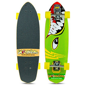 "SmoothStar Barracuda 30"" Surf Skateboard, Green / Yellow"
