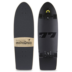 "SmoothStar 77 Toledo 34"" Surf Skateboard, Black"