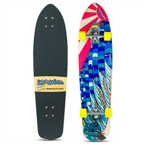 "SmoothStar Dolphin 39"" Surf Skateboards, Dolphin Cruiser"