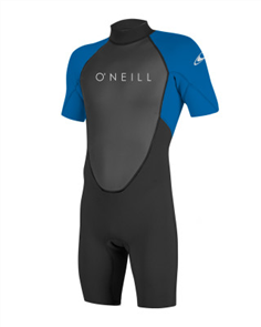 Oneill REACTOR II 2MM Short Sleeve SPRING Suit, Black Ocean