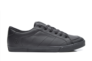 vans authentic black leather shoes nz