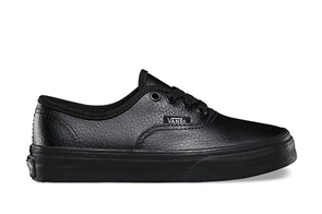 vans authentic black leather mono nz