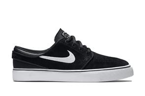 Nike Youth Stefan Janoski (GS) Skateboarding Shoe, Black White