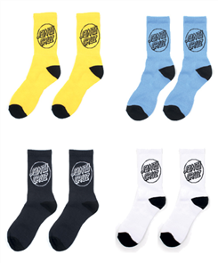 Santa Cruz Pop Youth Sock 4Pairs, Assorted