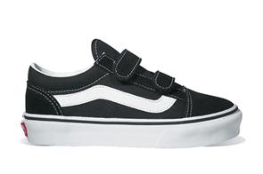 Vans Classics Plus Old Skool V Youth Shoe, Black White
