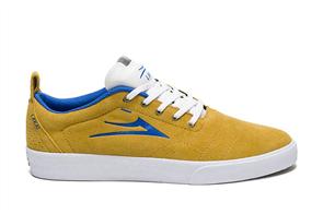 Lakai Bristol Skate Shoe Suede, Gold Blue