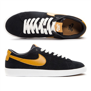 Nike Mens SB Zoom Blazer GT Shoe, Black/ White