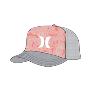 Hurley Holiday Trucker Hat, Rouge
