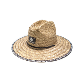 The Mad Hueys NEW LOGO STRAW HAT, BLACK