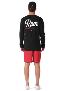 RPM Michigan L/S Tee, Black