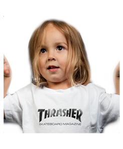 Thrasher Toddler Tee, White