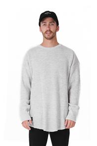 RPM Oversize Knit, Grey Marl