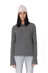 RPM Ribbed Long Sleeve Tee, Navy Stripe