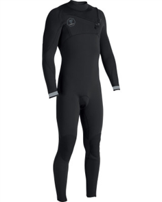 Vissla Seven Seas 4/3mm Full Chest Zip, Black Fade