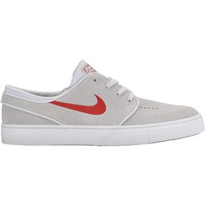 Nike SB Zoom Stefan Janoski Shoe, Pure Platinum University Red-Black-White
