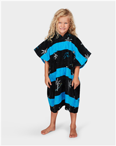 Billabong Kids Grom Island Hooded Towel, Black