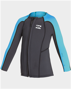 Billabong 2/2Mm Toddler Absolute Frontzip Jacket, Ash
