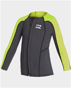 Billabong 2/2Mm Toddler Absolute Frontzip Jacket, Neon Yellow