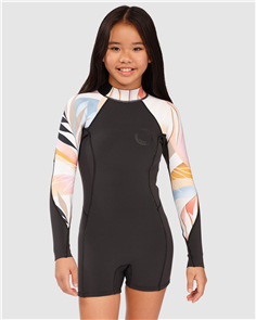 Billabong TEEN SPRING FEVER LS SPRINGSUIT, HEAT WAVE