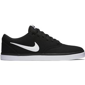 Nike Mens SB Check Solarsoft Canvas Shoe, Black White