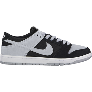 Nike SB Zoom Dunk Low Pro Shoe, Black Wolf Grey-White-White
