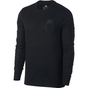 Nike SB Dry L/S T-Shirt, Black Black