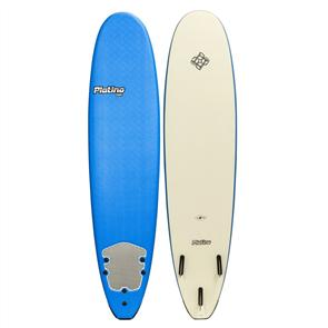 Platino HDPE Soft Surfboard, DAZZLING BLUE/WHITE
