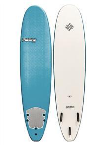 Platino HDPE Malibu Soft Surfboard, STEEL/WHITE