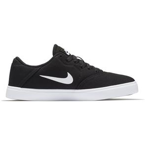 Nike Boys' SB Check Canvas (GS) Skateboarding Shoe, Black White
