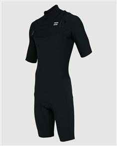 Billabong Resolution Pro ChestZip SS Spring Suit, Black