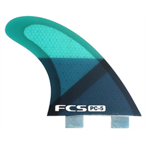 FCS I PC-5 Blue Slice Quad Fins
