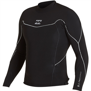 Billabong Pro Series 1mm Long Sleeve Jacket, Black