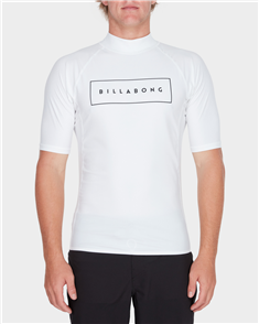 Billabong All Day United Pf Short Sleeve Rashguard, White