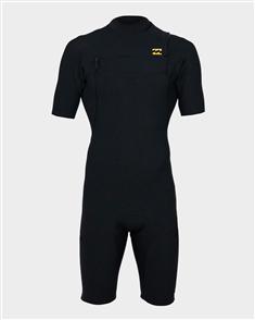 Billabong 2/2Mm Pro Series Chestzip Short Sleeve Spring Gbs, Black