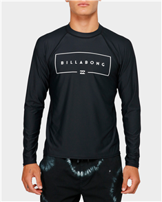 Billabong Union Relaxed Fit Long Sleeve Tee, Black