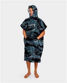 Billabong Mens Hoodie Towel, Black Camo