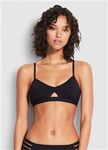 Seafolly Active Hybrid Bralette Bikini Top, Black