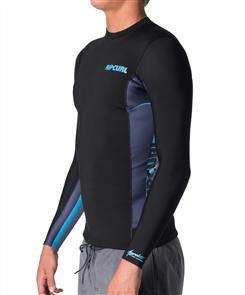 Rip Curl Junior Aggro Long Sleeve Front Zip Vest, 0070 Blue