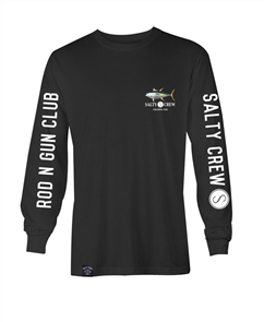Salty Crew Ahi Fish Tech Long Sleeve, Black