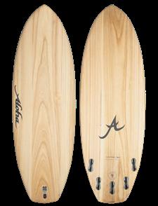 Aloha Surfboards ALOHA ECOSKIN BLACK PANDA 5 Fin (FCSII) SURFBOARD, ECOSKIN
