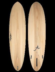 Aloha Surfboards ALOHA ECOSKIN FUN DIVISION Mid 3 Fin (1+2FCSII) SURFBOARD, ECOSKIN