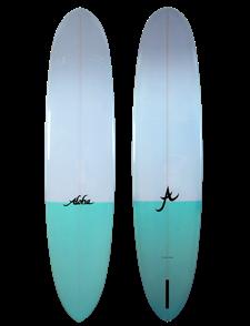 Aloha PinTail NoseRider 10'Single Fin LOGBOARD, Aqua2TonePolish PU