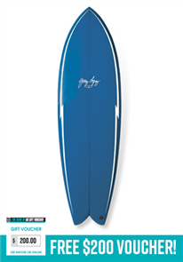 Gerry Lopez Something Fishy PU Quad-fin, Blue, 5'6