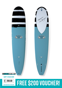 Takayama In The Pink Tuflite Surfboard 9'6, Teal