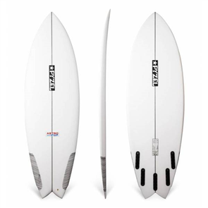 Pyzel Astro Pop Surfboard with 5 FCS Fin Plugs