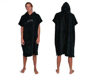 Billabong 100% Cotton Unisex Adults Hooded Towel, Black