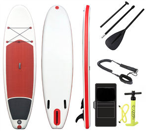 "Blank Inflatable Sup Combo Full Package - 10'2 X 33"", White Red Black"