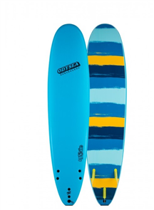 Odysea Blank Series Log Tri Fin Softboard, Blue 20
