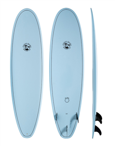 Three Palms Co Surfboard Longboard 9'0, Blue