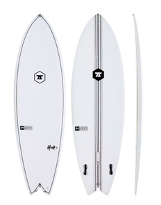 7S The Hook IM Innegra Matrix Twin Fin Surfboard, Clear